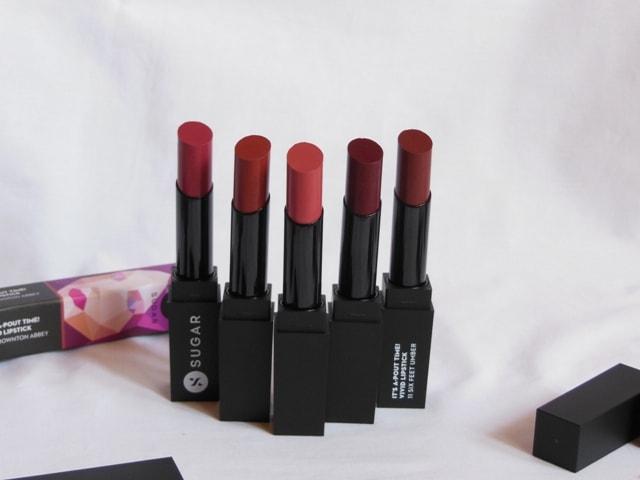Sugar Its a Pout Time Vivid Lipsticks 5 New shades