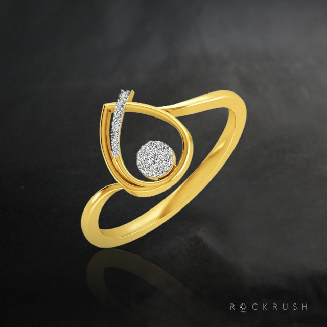 Gold Ring Designs -Beauty held in a drop