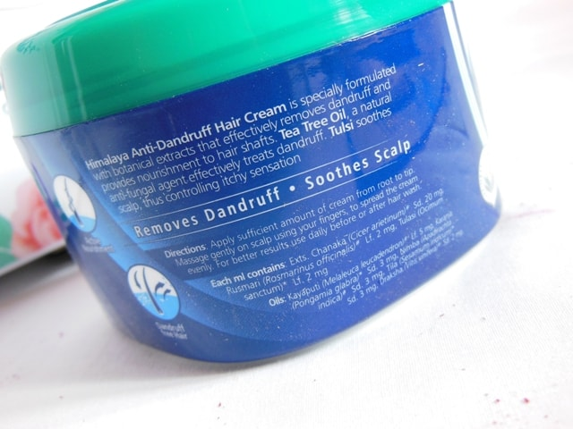 Himalaya Anti Dandruff Hair Cream CLaims