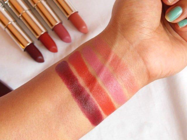 Maybelline Inti MAtte Nudes Creamy Matte Lipsticks Swatches