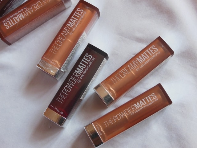 Maybelline Inti MAtte Nudes Lipsticks Finishes