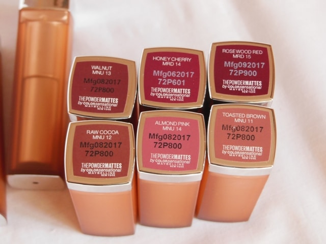 Maybelline Inti MAtte Nudes Powder Matte Lipsticks Shades