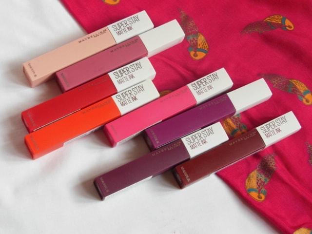 Maybelline Superstay matte Ink Lipstick packaging