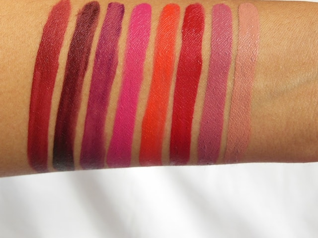 Maybelline Superstay matte Ink Lipsticks Swatches 3