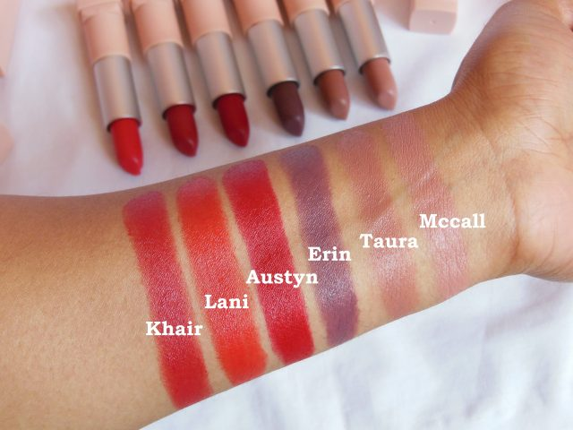 Maybelline X GIGI Hadid Lipstick Collection Swatches