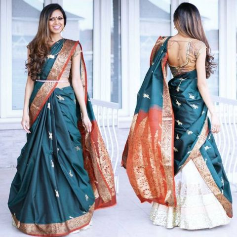 Saree Fashion Trend 2018 -Can Can Saree Style