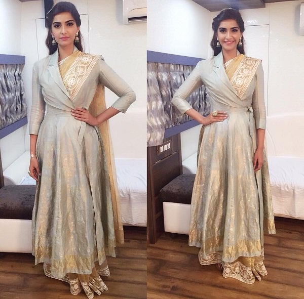 Saree Fashion Trend 2018 -Jacket-With-Saree Sonam Kapoor