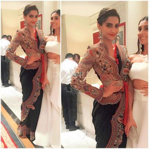 Saree Fashion Trend 2018 -Jacket on Saree Sonam Kapoor