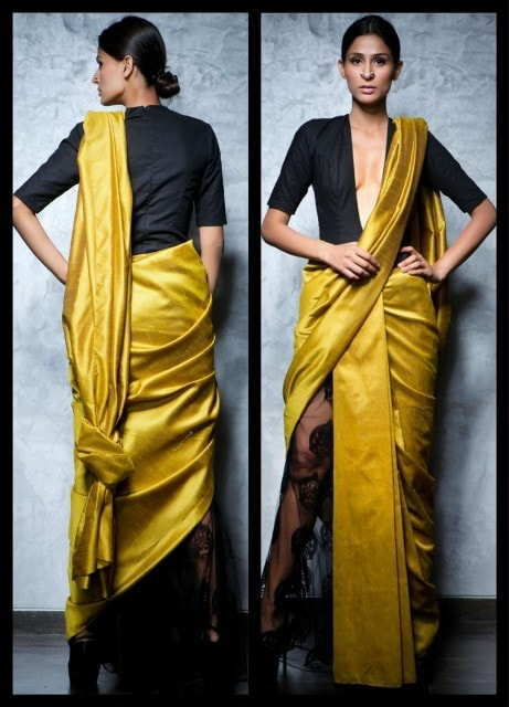 Saree Fashion Trend 2018 -Saree over Pants Style